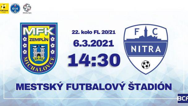 futbalový zápas MFK Michalovce - FC Nitra