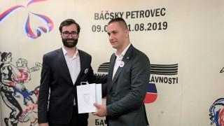 Delegácia z Nitry na národných slávnostiach v Báčskom Petrovci