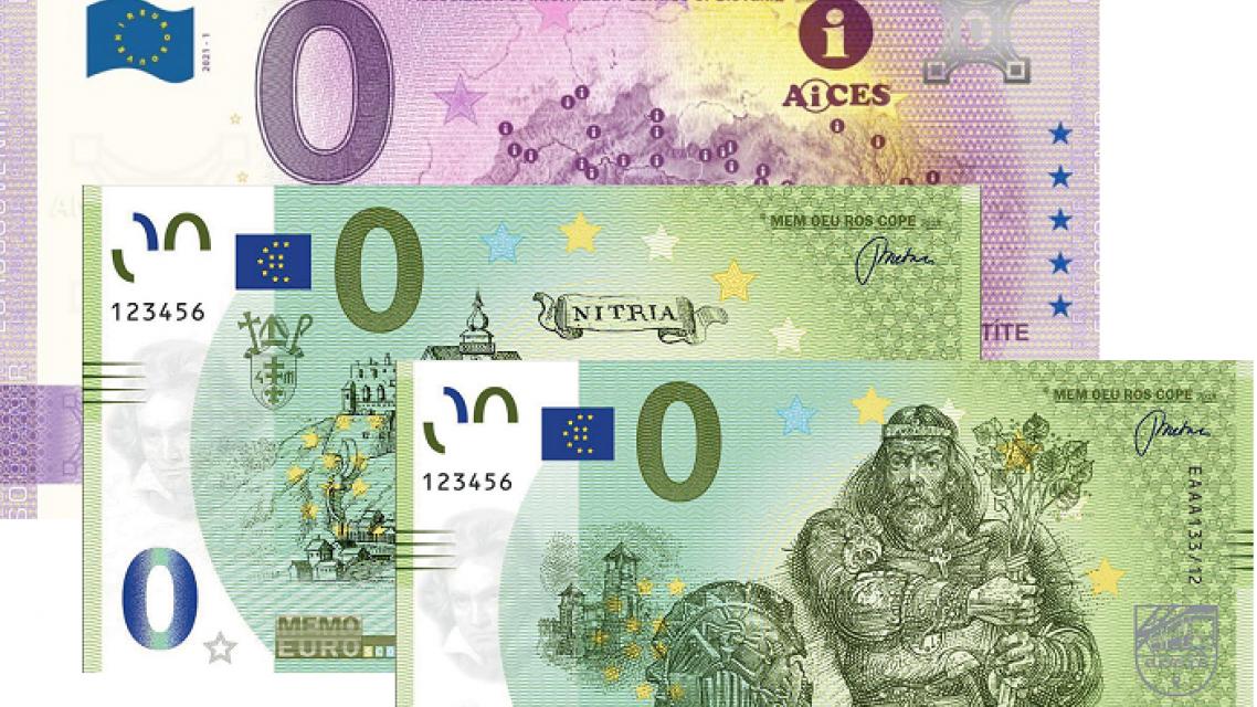 Predávame 0 € bankovky