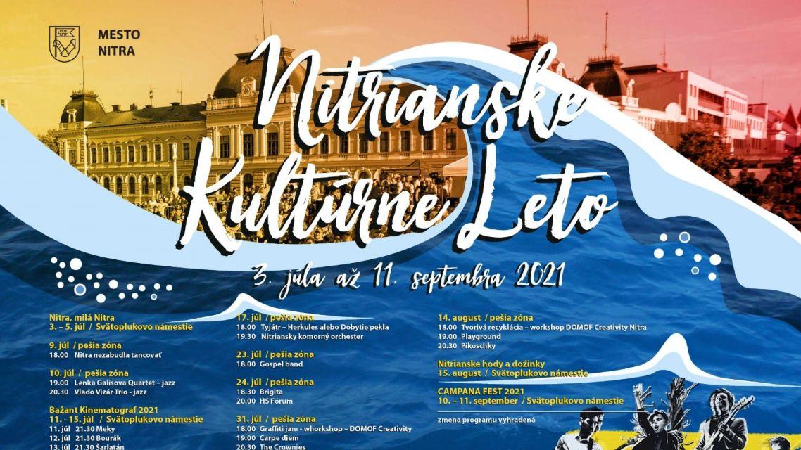 Nitrianske kultúrne leto 2021