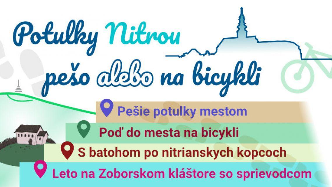 Potulky Nitrou pešo alebo na bicykli